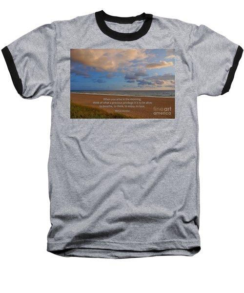 2- Marcus Aurelius Baseball T-Shirt by Joseph Keane