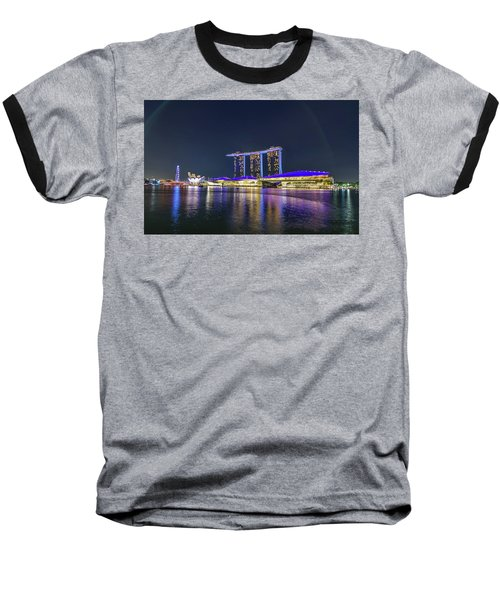 Marina Bay Sands And The Artscience Museum In Singapore Baseball T-Shirt