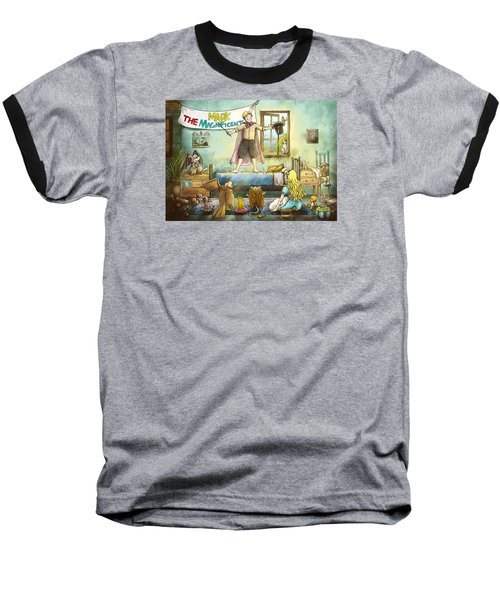 Mark The Magnificent Baseball T-Shirt by Reynold Jay