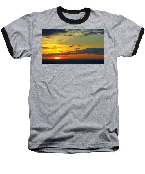 Extraordinary Maui Sunset Baseball T-Shirt