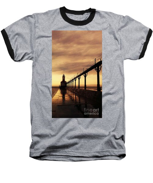 Michigan City Lighthouse Baseball T-Shirt