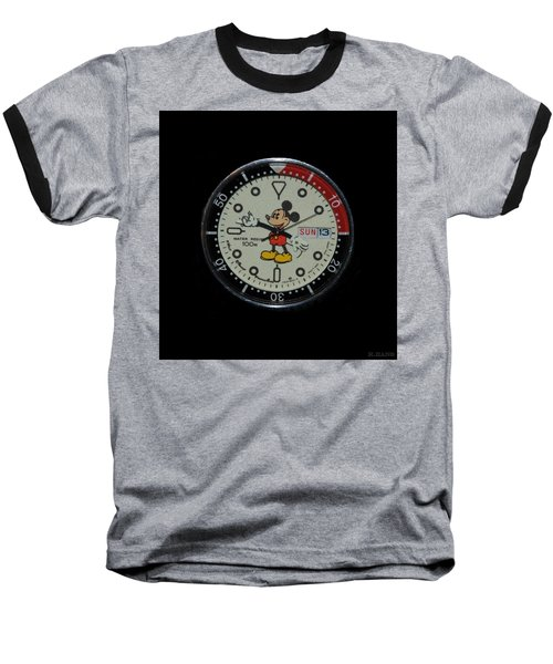 Mickey Mouse Watch Face Baseball T-Shirt