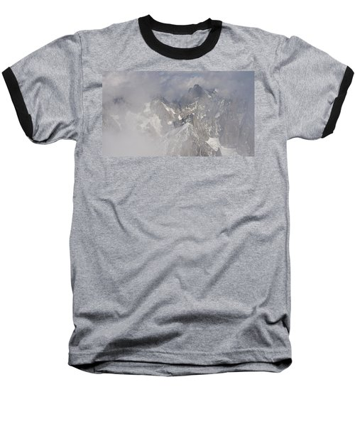 Mist At Aiguille Du Midi Baseball T-Shirt