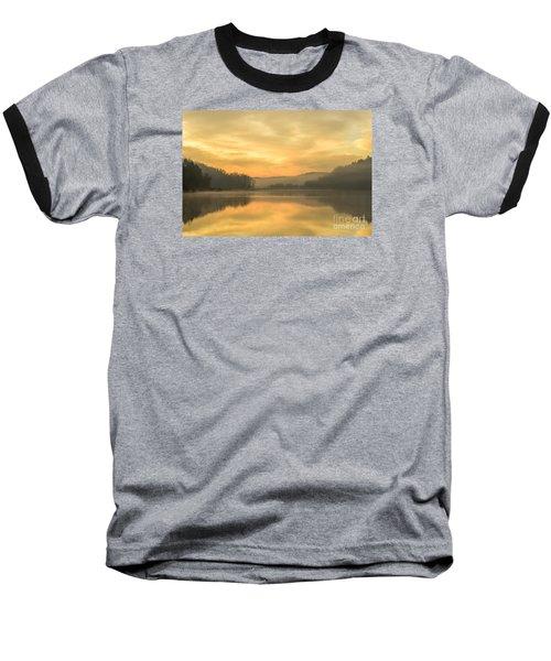 Misty Morning On The Lake Baseball T-Shirt by Thomas R Fletcher
