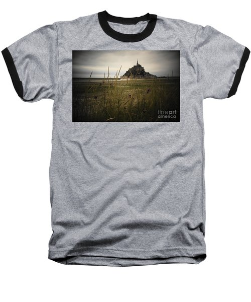 Mont St Michel Baseball T-Shirt by Therese Alcorn