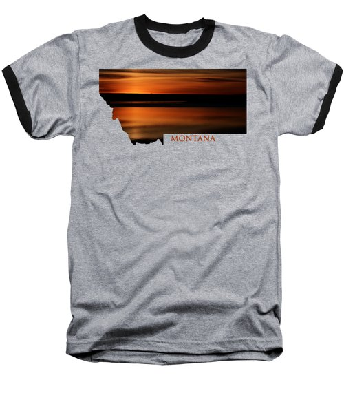 Montana- Sunrise Baseball T-Shirt