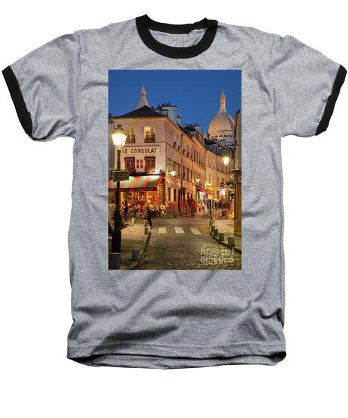 Montmartre Twilight Baseball T-Shirt