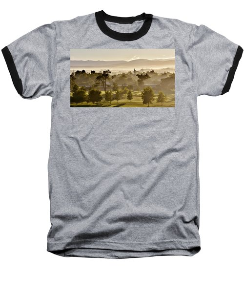 morning fog over Ceres Baseball T-Shirt