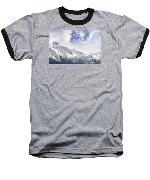 Mountains And Clouds Baseball T-Shirt by Michele Cornelius