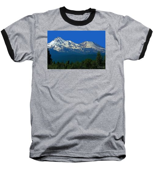 Mt. Shasta Baseball T-Shirt by Steve Warnstaff