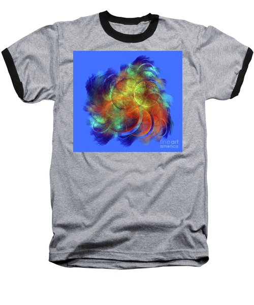 Multicolored Abstract Figures Baseball T-Shirt