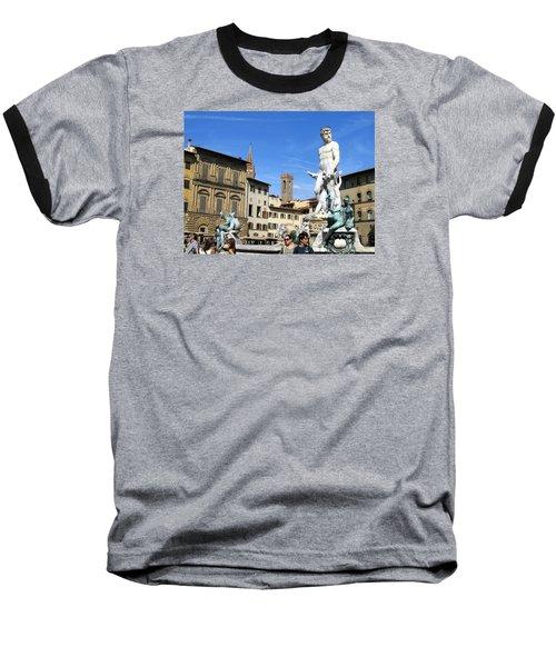 Neptune Fountain Florence Baseball T-Shirt by Lisa Boyd