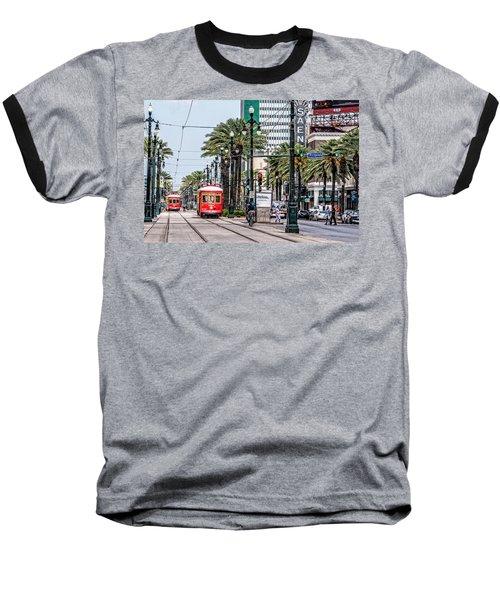 New Orleans Canal Street Streetcars Baseball T-Shirt