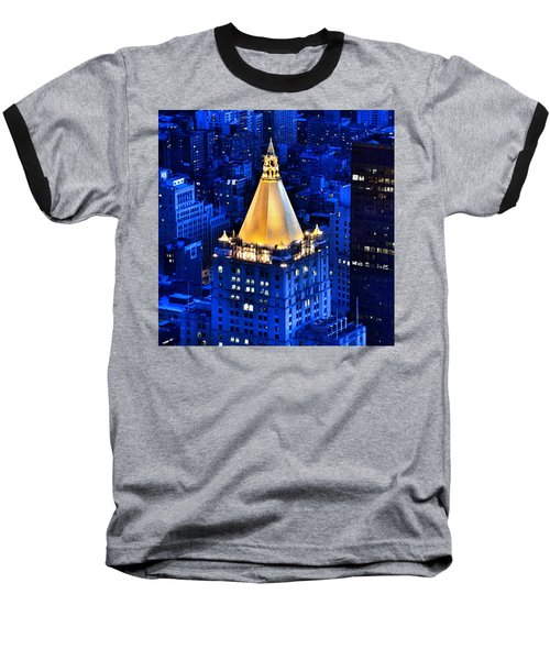 New York Life Building Baseball T-Shirt