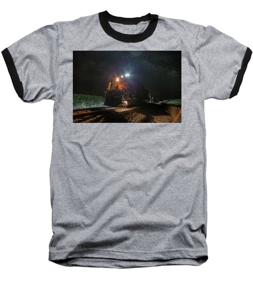 Baseball T-Shirt featuring the photograph Night Train  by Aaron J Groen