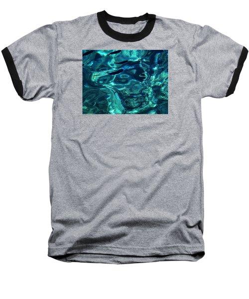 Baseball T-Shirt featuring the photograph Ocean Water Santorini Greece  by Colette V Hera  Guggenheim
