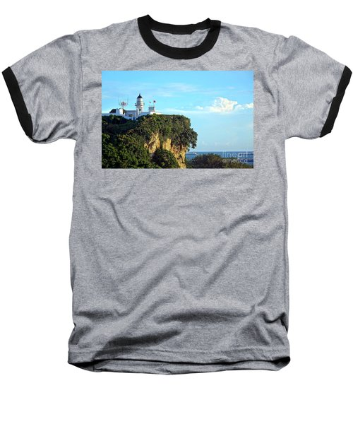 Baseball T-Shirt featuring the photograph Old Lighthouse Overlooking Kaohsiung Harbor by Yali Shi