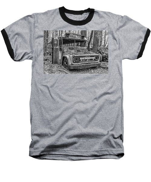 Old School Bus Baseball T-Shirt