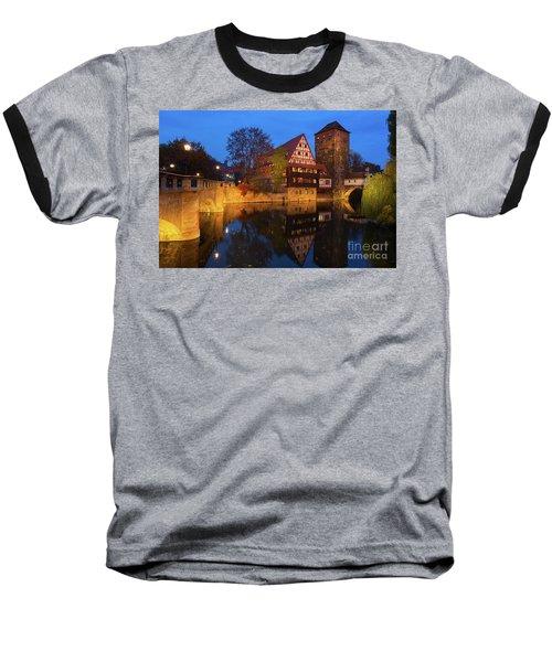 Nuremberg At Night Baseball T-Shirt