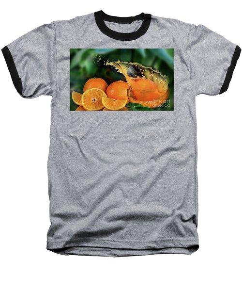 Orange Splash Baseball T-Shirt