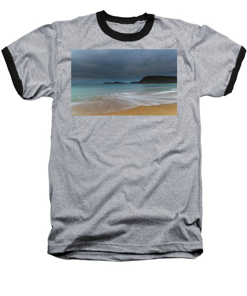Overcast Cloudy Sunrise Seascape Baseball T-Shirt