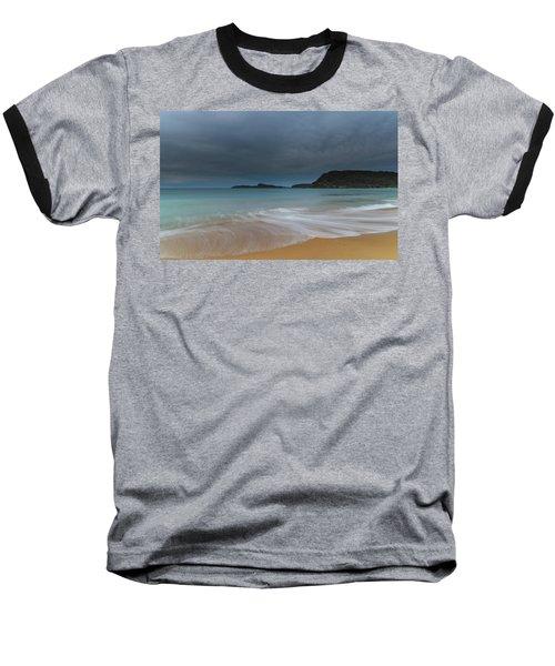 Overcast Cloudy Sunrise Seascape Baseball T-Shirt