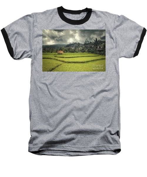 Baseball T-Shirt featuring the photograph Paddy Field by Charuhas Images