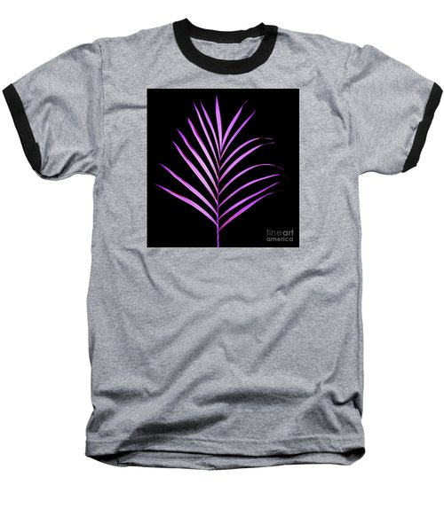 Palm Leaf Baseball T-Shirt by Tony Cordoza