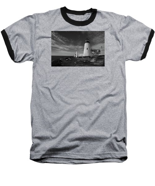 Pemaquid Lighthouse Baseball T-Shirt