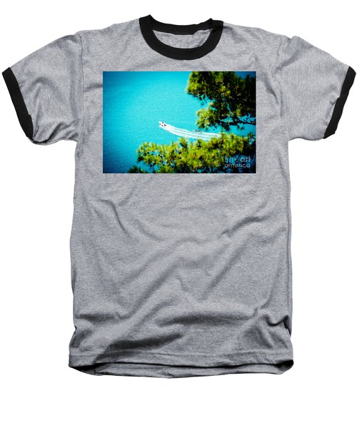 Pine Forest Over Sea Seascape Artmif.lv Baseball T-Shirt