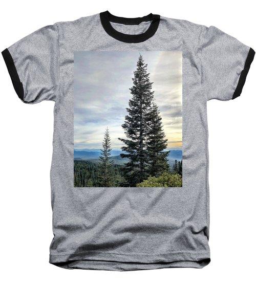 2 Pine Trees Baseball T-Shirt