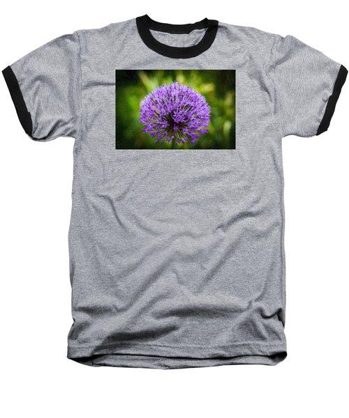 Pink Flower Baseball T-Shirt by Andre Faubert