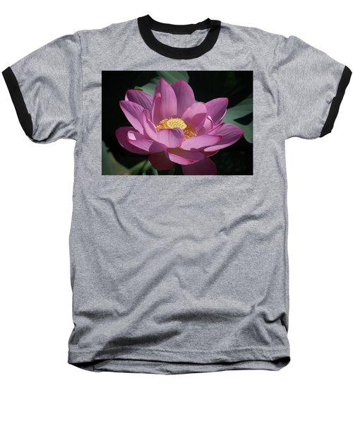 Pink Lotus Blossom Baseball T-Shirt