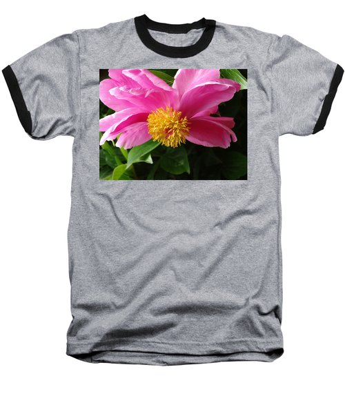 Baseball T-Shirt featuring the photograph Pink Peony by Rebecca Overton