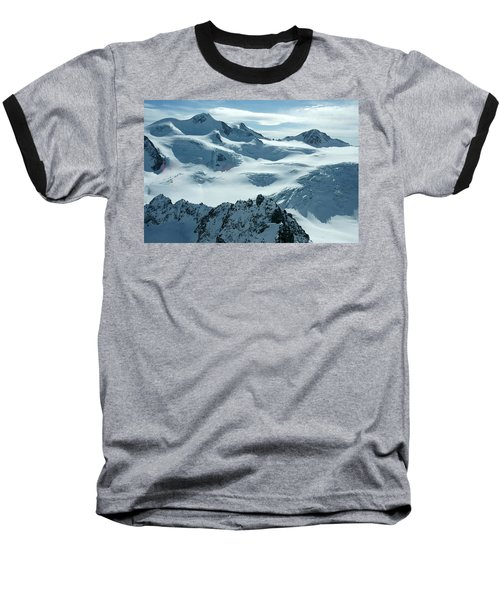Baseball T-Shirt featuring the photograph Pitztal Glacier by Christian Zesewitz