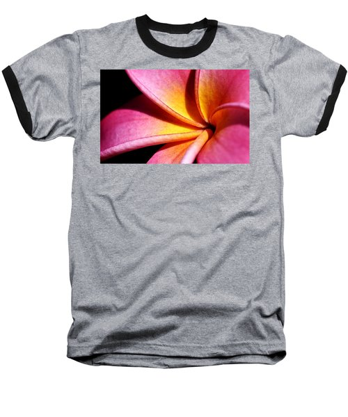 Plumeria Flower Baseball T-Shirt