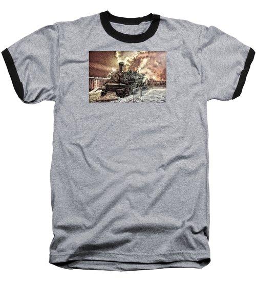 Polar Express. Durango, Colorado #1 Baseball T-Shirt by George Robinson