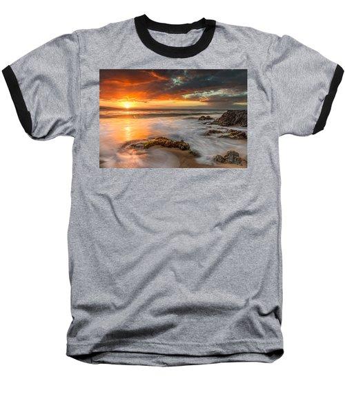 Poolenalena Sunset Baseball T-Shirt by James Roemmling
