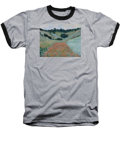 Poppy Field In A Hollow Near Giverny Baseball T-Shirt by Claude Monet