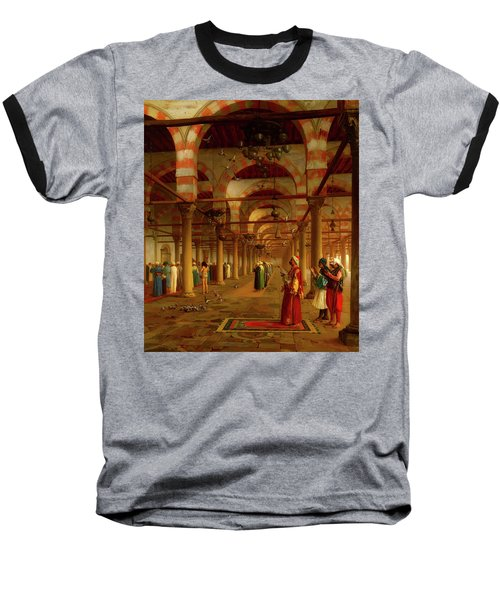 Baseball T-Shirt featuring the painting Prayer In The Mosque by Jean-Leon Gerome