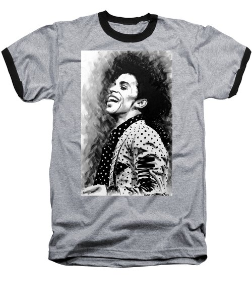 Baseball T-Shirt featuring the painting Prince by Darryl Matthews