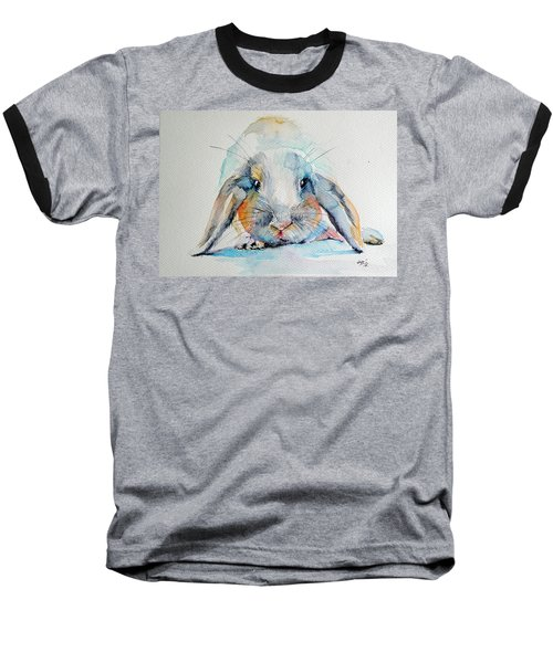 Rabbit Baseball T-Shirt by Kovacs Anna Brigitta