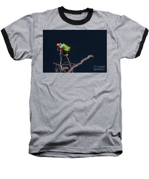 Red Eyed Tree Frog Baseball T-Shirt
