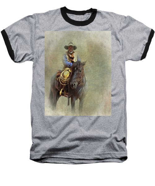 Baseball T-Shirt featuring the photograph Ride Em Cowboy by David and Carol Kelly