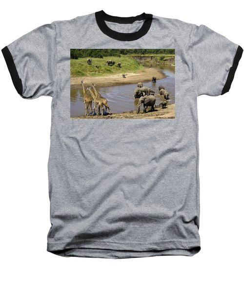 River Crossing Baseball T-Shirt