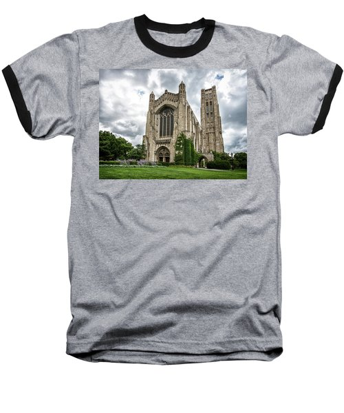 Rockefeller Chapel Chicago Baseball T-Shirt