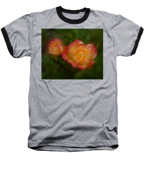 Baseball T-Shirt featuring the photograph 2 Roses by Richard Cummings