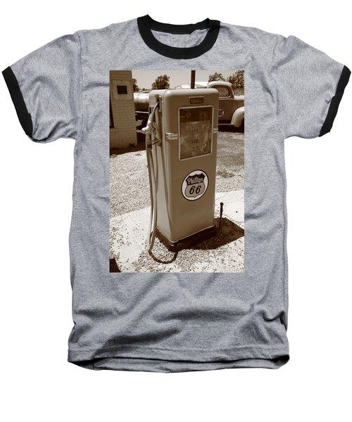 Route 66 Gas Pump Baseball T-Shirt