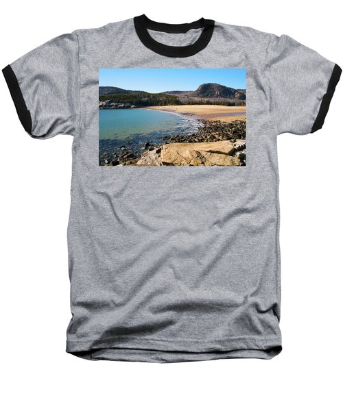 Sand Beach Acadia National Park Baseball T-Shirt