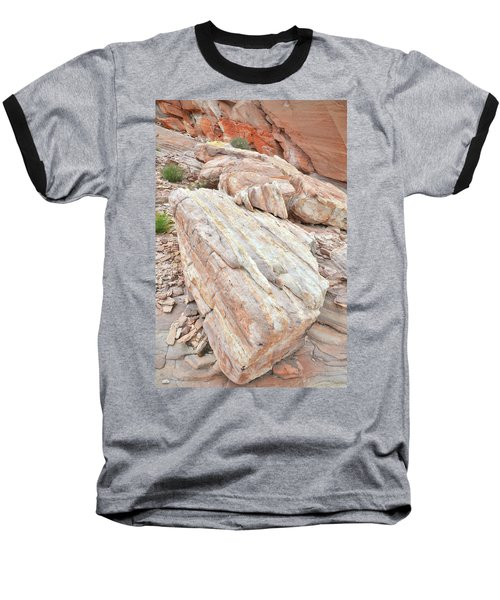 Baseball T-Shirt featuring the photograph Sandstone Slope In Valley Of Fire by Ray Mathis